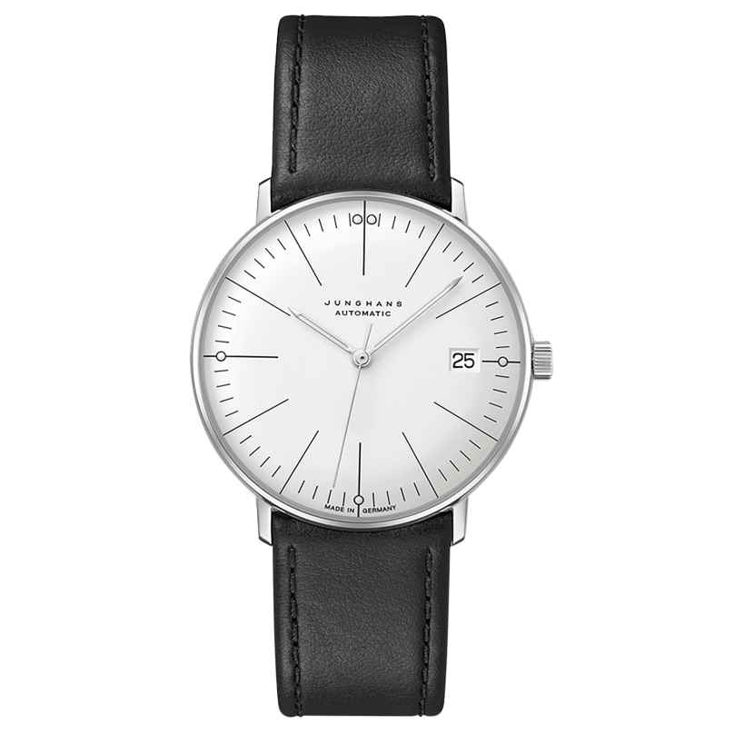Junghans 027/4105.02 max bill Watch Small Automatic Black/Silver Tone 4000897393748