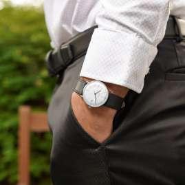Junghans 027/4105.02 max bill Armbanduhr Kleine Automatic Schwarz/Silberfarben