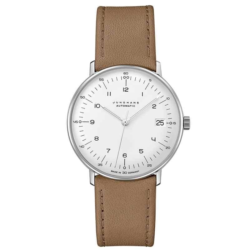 Junghans 027/4107.02 max bill Armbanduhr Kleine Automatic Beige/Silberfarben 4000897393762