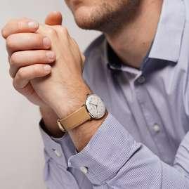 Junghans 027/4107.02 max bill Armbanduhr Kleine Automatic Beige/Silberfarben