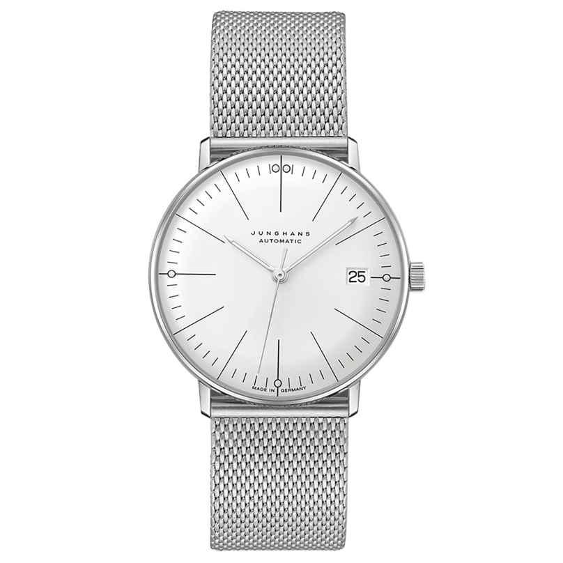 Junghans 027/4106.46 max bill Armbanduhr Kleine Automatic mit Milanaiseband 4000897393755