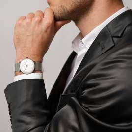 Junghans 027/4106.46 max bill Armbanduhr Kleine Automatic mit Milanaiseband