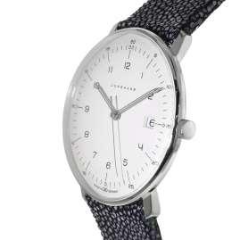 Junghans 041/446-Rochen max bill Quarz Herrenuhr mit 2 Lederbändern