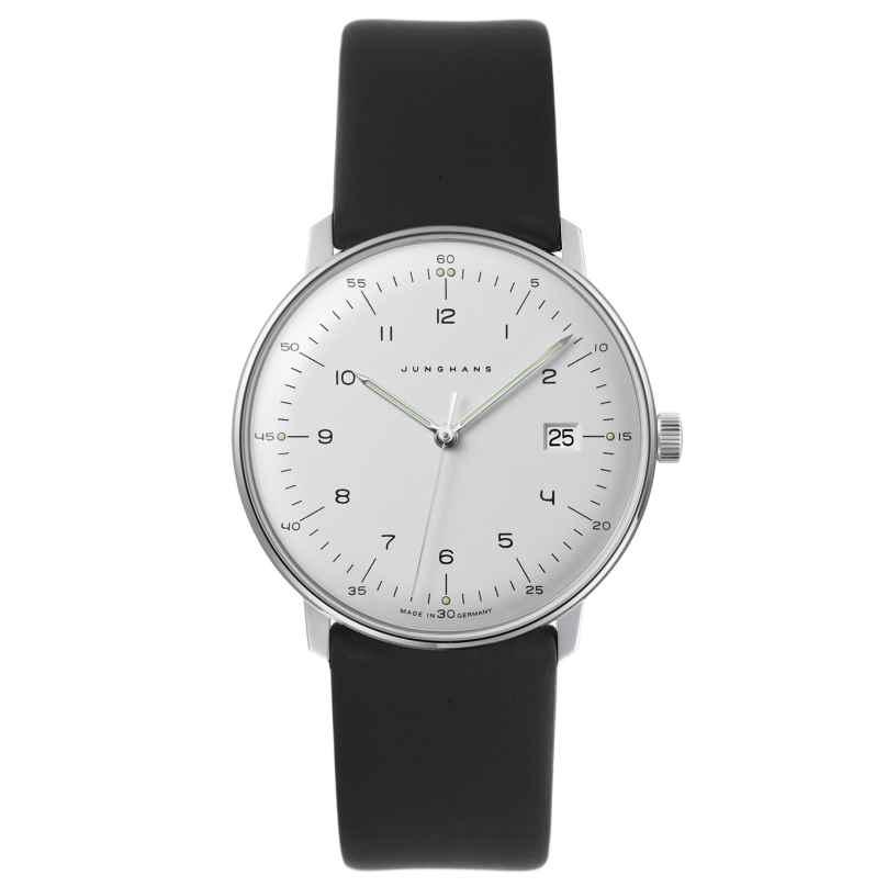Junghans 041/446-Nappa max bill Quarz Herren-Armbanduhr mit 2 Lederbändern 4260497088974