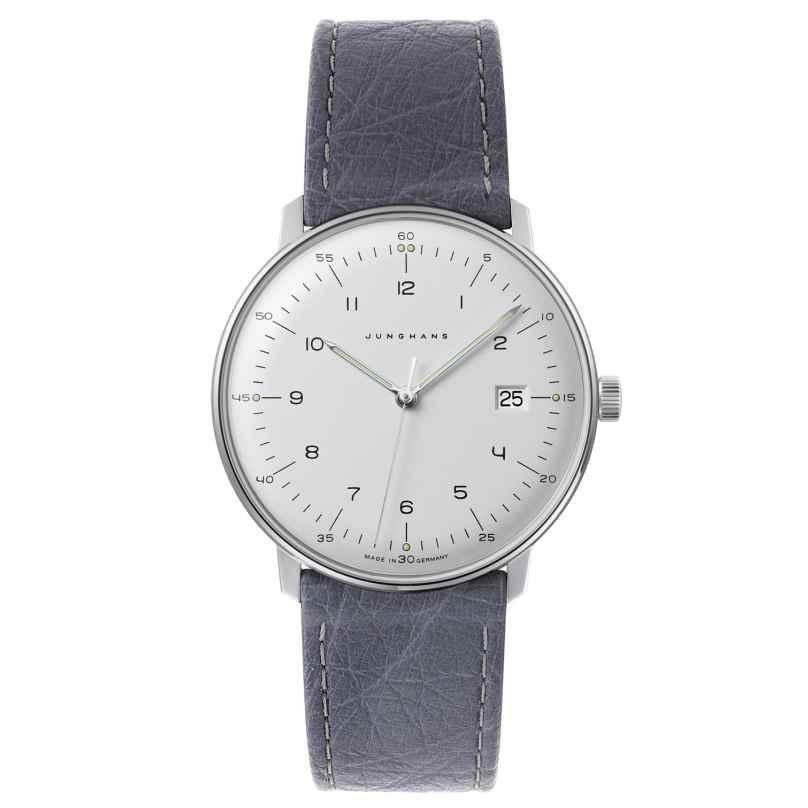 Junghans 041/446-Strauß max bill Quarz Armbanduhr mit 2 Lederbändern 4260497089551