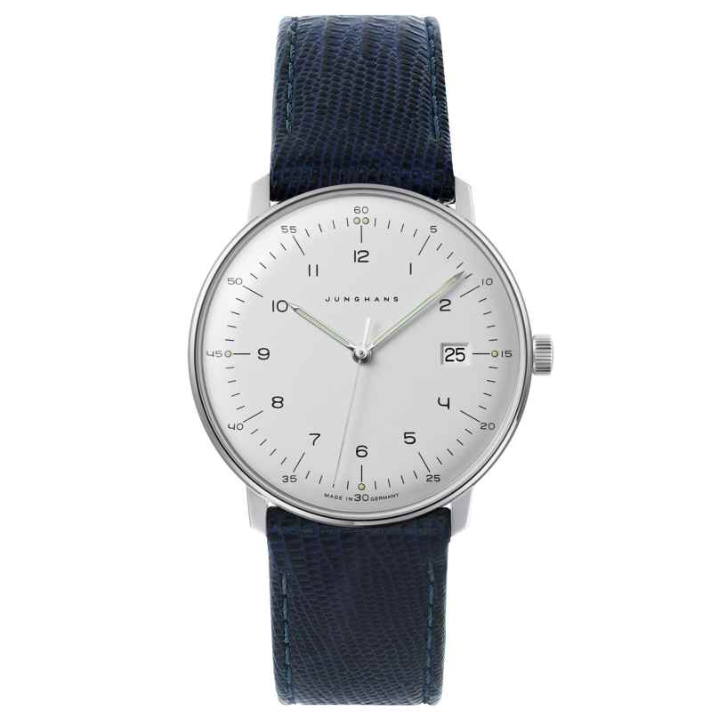 Junghans 041/446-Blau max bill Quartz Watch with 2 Leather Straps 4260435353577