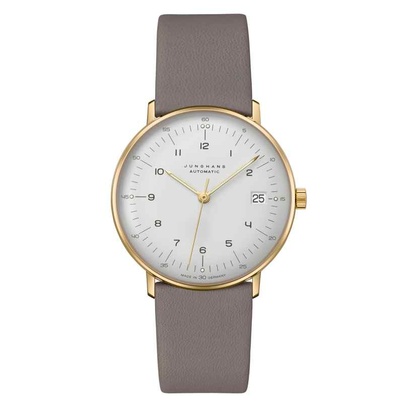 Junghans 027/7108.02 max bill Armbanduhr Kleine Automatic Grau/Goldfarben 4000897393779