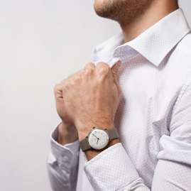 Junghans 027/7108.02 max bill Armbanduhr Kleine Automatic Grau/Goldfarben