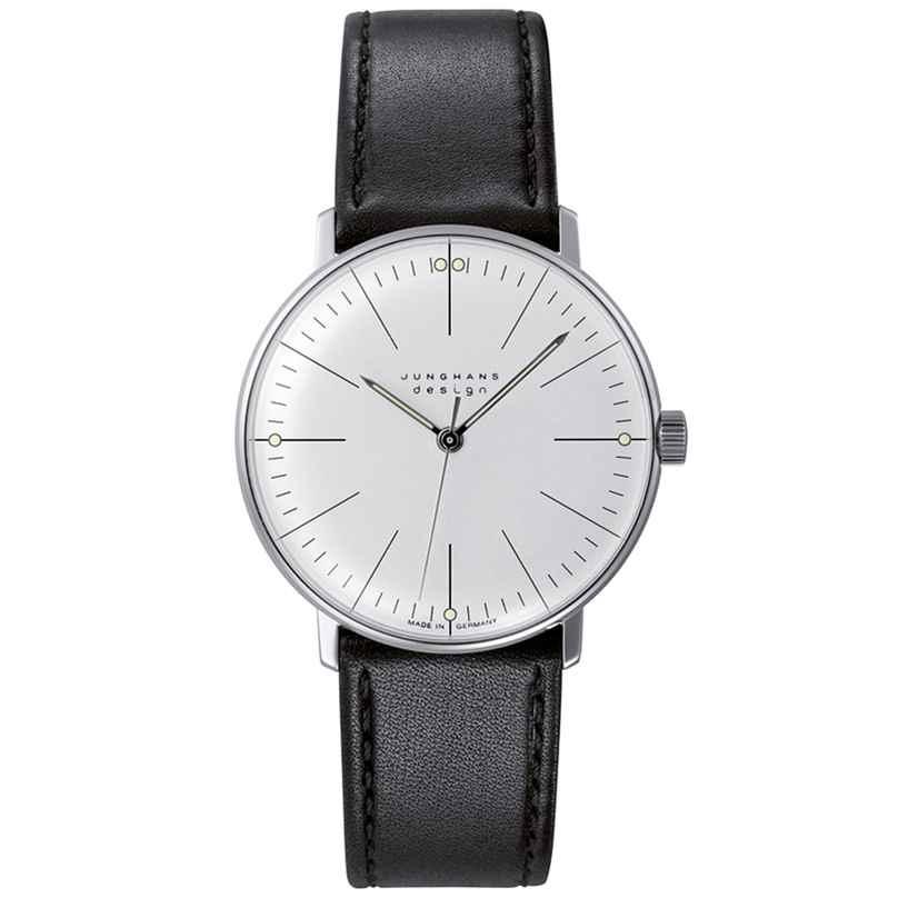 Junghans 027/3700.02 max bill Handaufzug Armbanduhr mit Saphirglas 4000897393847