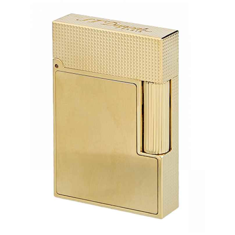 S.T. Dupont C18602 Lighter Line 2 Small Gold Tone Brushed 3597390273444