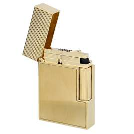 S.T. Dupont C18602 Lighter Line 2 Small Gold Tone Brushed