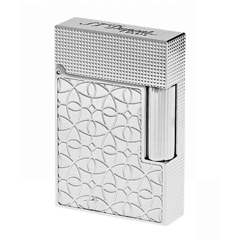 S.T. Dupont C18603 Lighter Line 2 Small Platinum Tone Engraved 3597390274441