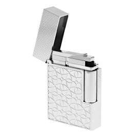 S.T. Dupont C18603 Lighter Line 2 Small Platinum Tone Engraved