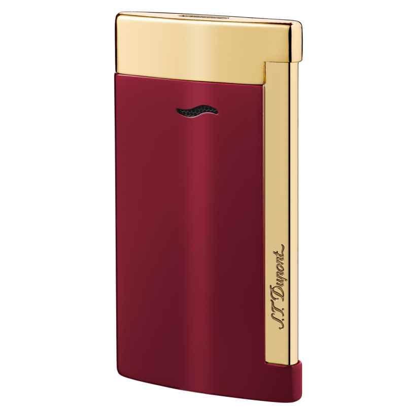 S.T. Dupont 027707 Feuerzeug Slim 7 Rouge & Doré 3597390227850