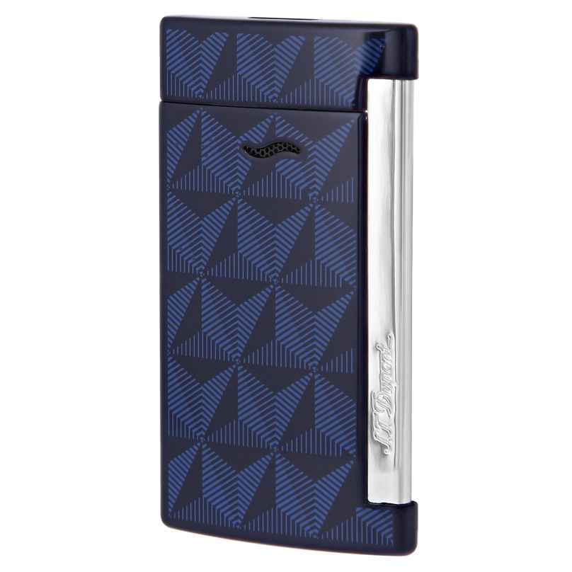 S.T. Dupont 027727 Feuerzeug Slim 7 Grafik Blau 3597390247285