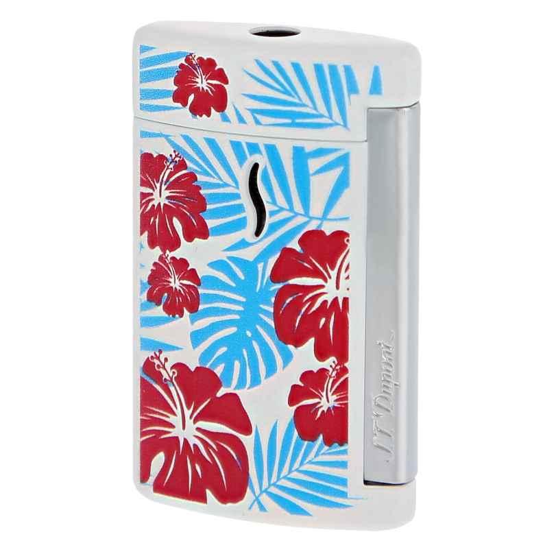 S.T. Dupont 010533 Feuerzeug Minijet Hawaii Torch-Flamme Weiß 3597390247322