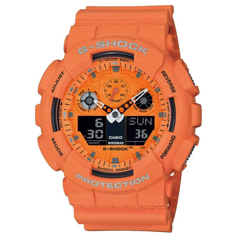 Casio GA-100RS-4AER G-Shock Herrenarmbanduhr 4549526223211