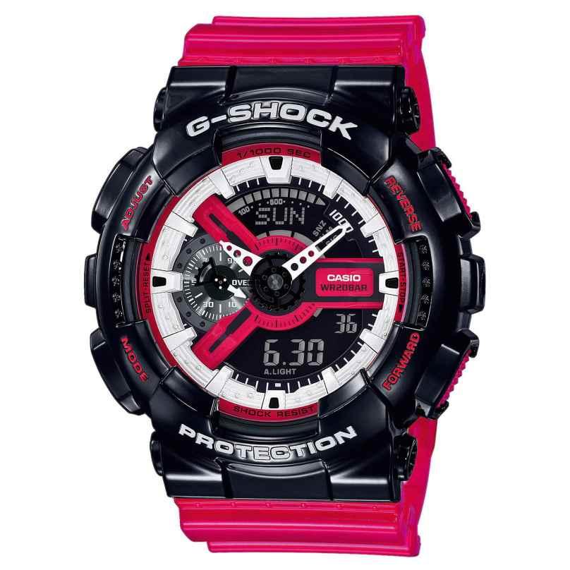 Casio GA-110RB-1AER G-Shock Armbanduhr mit Digitaler und Analoger Anzeige 4549526223266
