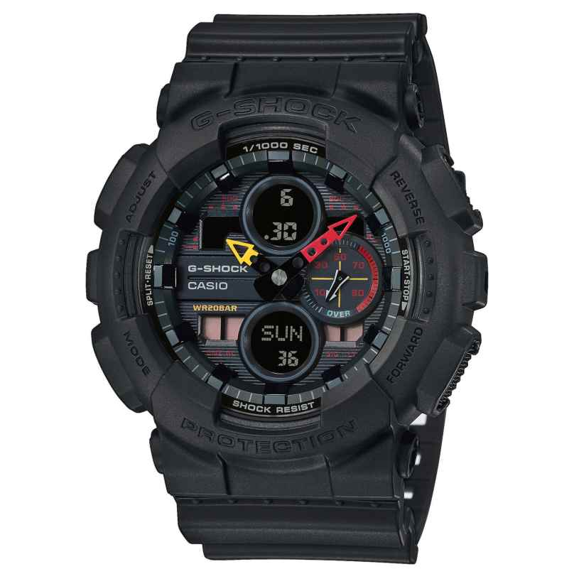 Casio GA-140BMC-1AER G-Shock Men's Watch Black x Neon 4549526241543