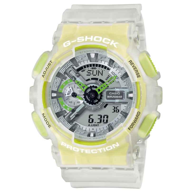 Casio GA-110LS-7AER G-Shock Classic Herrenuhr Weiß / Gelb 4549526270420