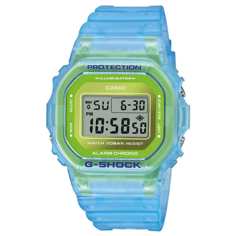 Casio DW-5600LS-2ER G-Shock The Origin Digital Watch Light Blue / Green 4549526269165