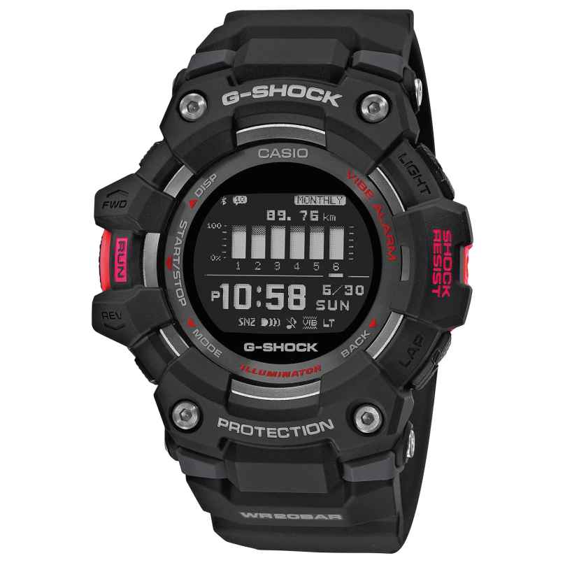 Casio GBD-100-1ER G-Shock G-Squad Digitaluhr mit Bluetooth Schwarz 4549526268229