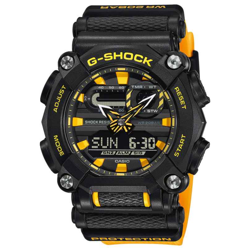 Casio GA-900A-1A9ER G-Shock men´s Watch Black/Yellow 4549526274206