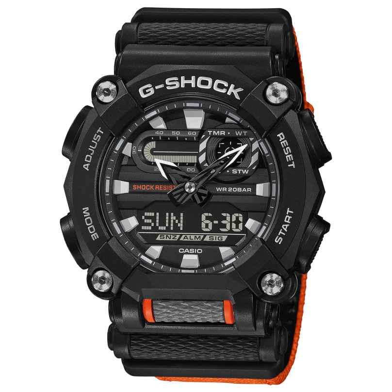 Casio GA-900C-1A4ER G-Shock Herrenuhr Schwarz/Orange 4549526274251
