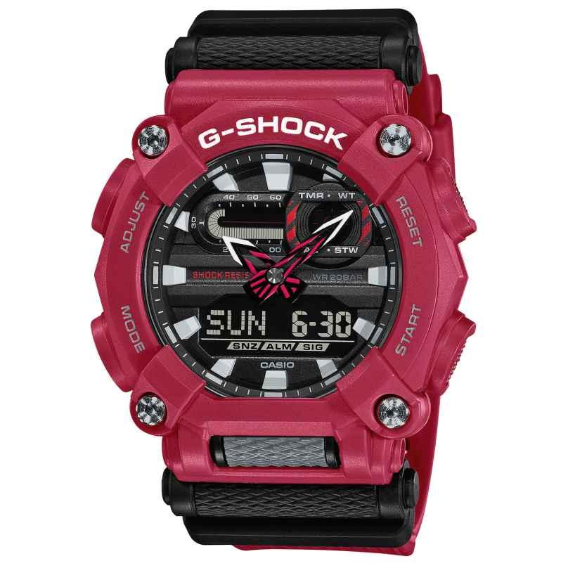 Casio GA-900-4AER G-Shock Herrenuhr Rot/Schwarz 4549526274404