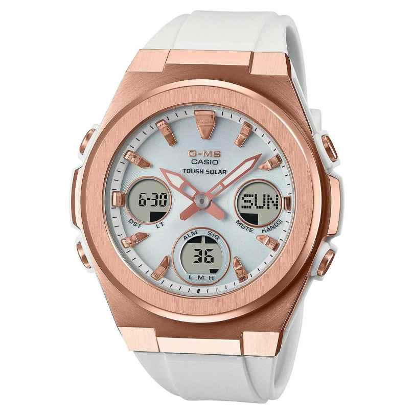 Casio MSG-S600G-7AER G-Shock Damenuhr Solar Weiß/Roségoldfarben 4549526297830