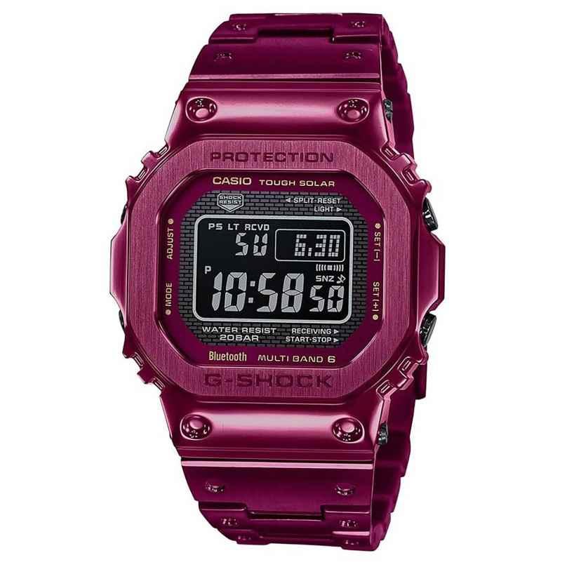 Casio GMW-B5000RD-4ER G-Shock Limited Funk-Solar Herrenuhr Dunkelrot 4549526279119