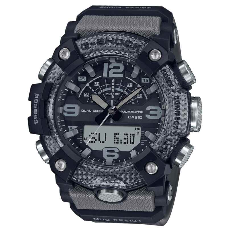 Casio GG-B100-8AER G-Shock Master of G Mudmaster Bluetooth Herrenuhr Grau/Sc 4549526297564