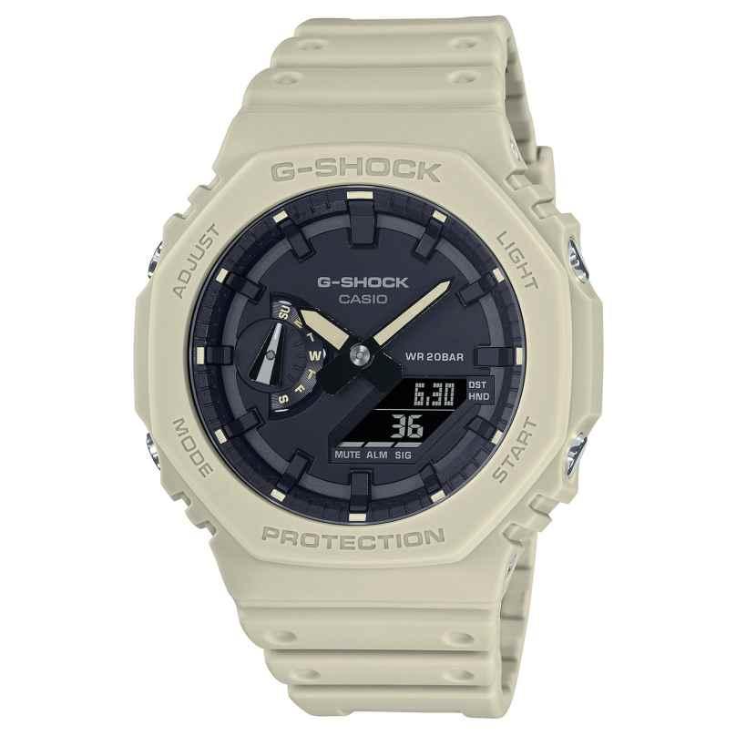 Casio GA-2100-5AER G-Shock Classic AnaDigi Men's Watch Beige/Black 4549526298035