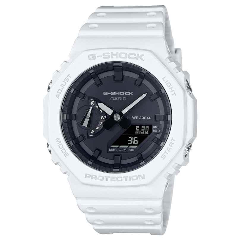 Casio GA-2100-7AER G-Shock Classic AnaDigi Herrenuhr Weiß/Schwarz 4549526298080