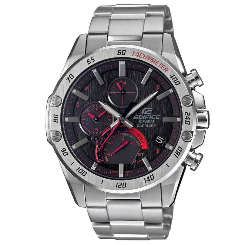 Casio EQB-1000XD-1AER Edifice Herrenuhr Solar Chrono Bluetooth Super Slim 4549526257971