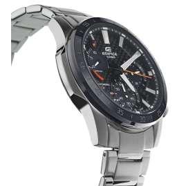 Casio EFS-S580DB-1AVUEF Edifice Solar Herren-Armbanduhr Schwarz/Orange