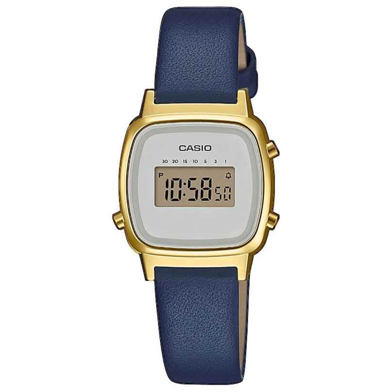 Casio LA670WEFL-2EF Vintage Mini Damen-Digitaluhr Gold/Blau 4549526252235