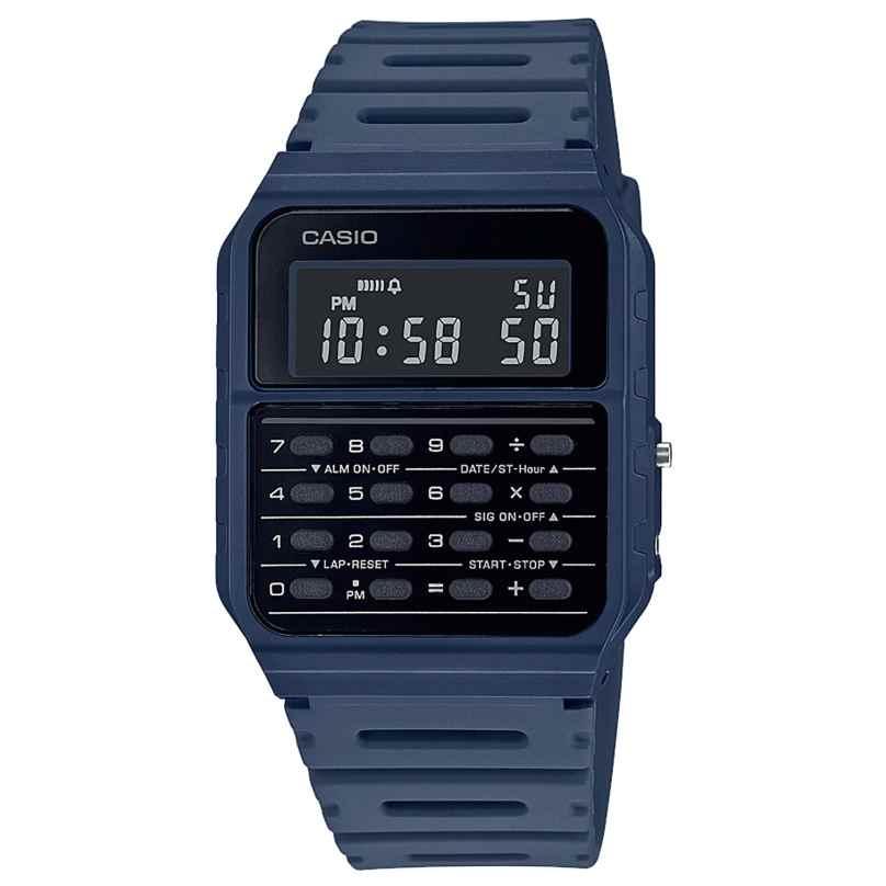 Casio CA-53WF-2BEF Vintage Edgy Digitaluhr mit Taschenrechner Blau 4549526272752