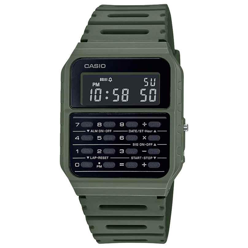 Casio CA-53WF-3BEF Vintage Edgy Armbanduhr mit Rechner Grün 4549526272769