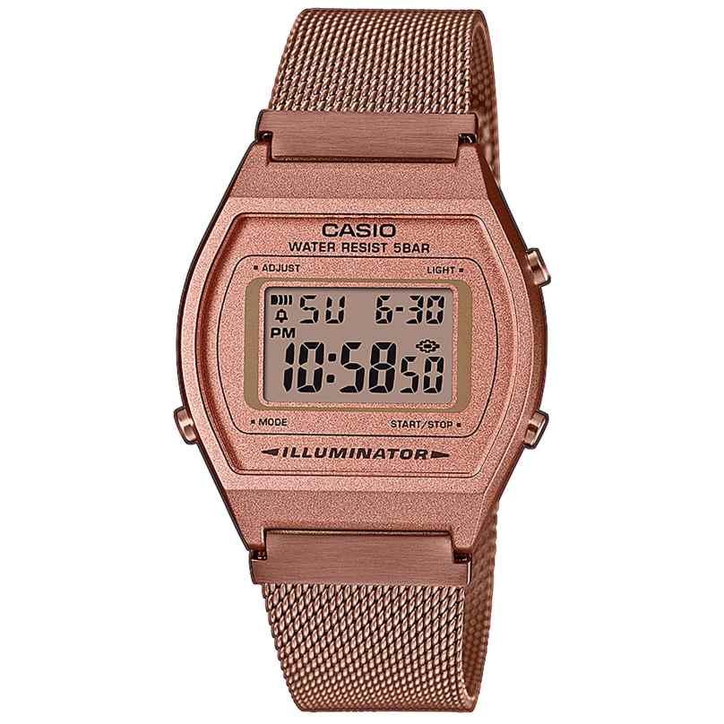 Casio B640WMR-5AEF Vintage Edgy Digital Watch with Mesh Strap 4549526273278