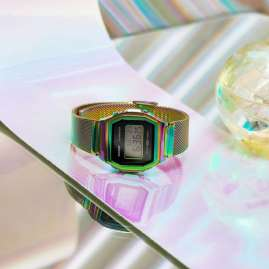 Casio A1000RBW-1ER Women's Watch Vintage Iconic Rainbow