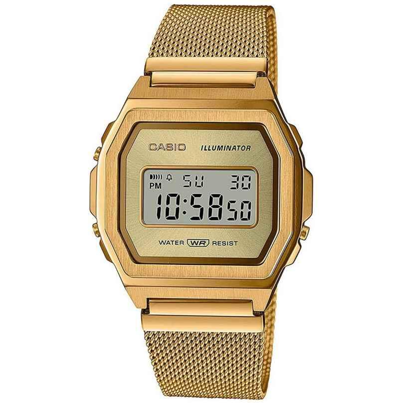 Casio A1000MG-9EF Vintage Iconic Damenuhr Goldfarben 4549526284465