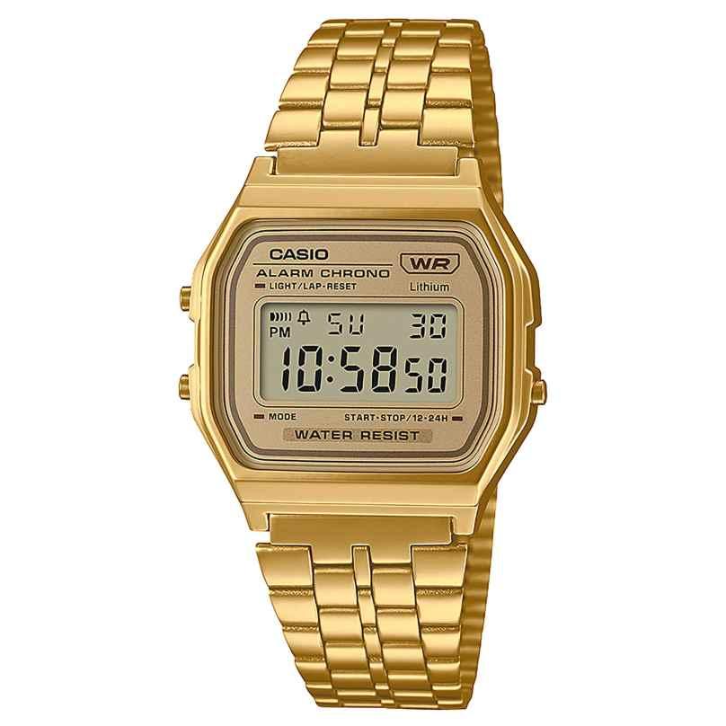 Casio A158WETG-9AEF Vintage Digital Watch Gold Tone 4549526296901
