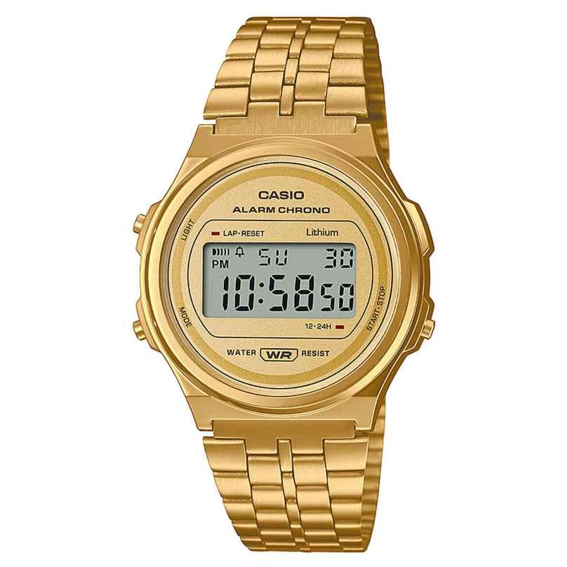 Casio A171WEG-9AEF Digitaluhr Vintage Goldfarben 4549526300905