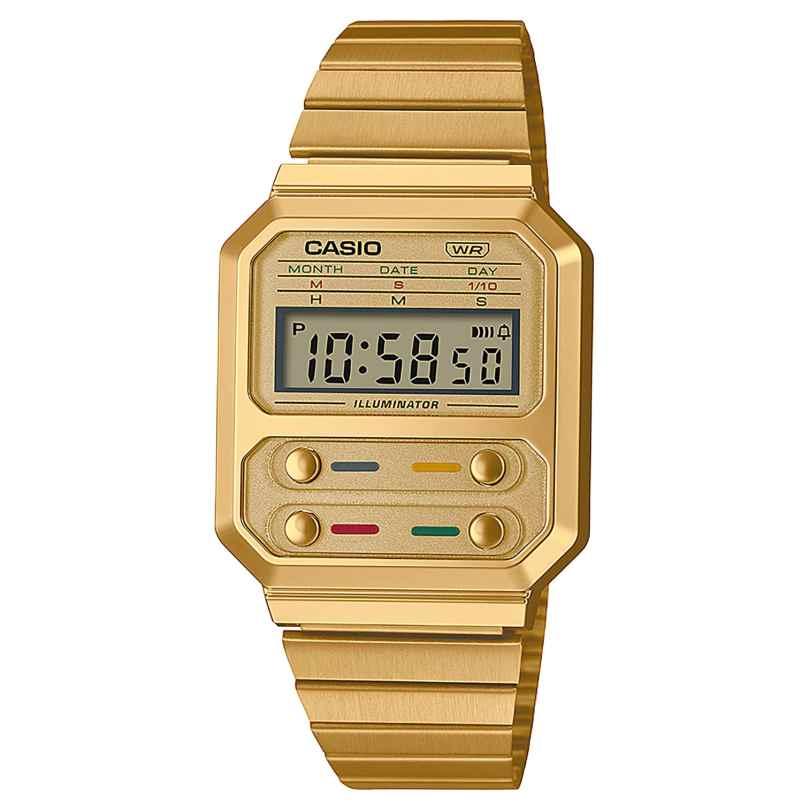 Casio A100WEG-9AEF Vintage Edgy Uhr Goldfarben 4549526306037