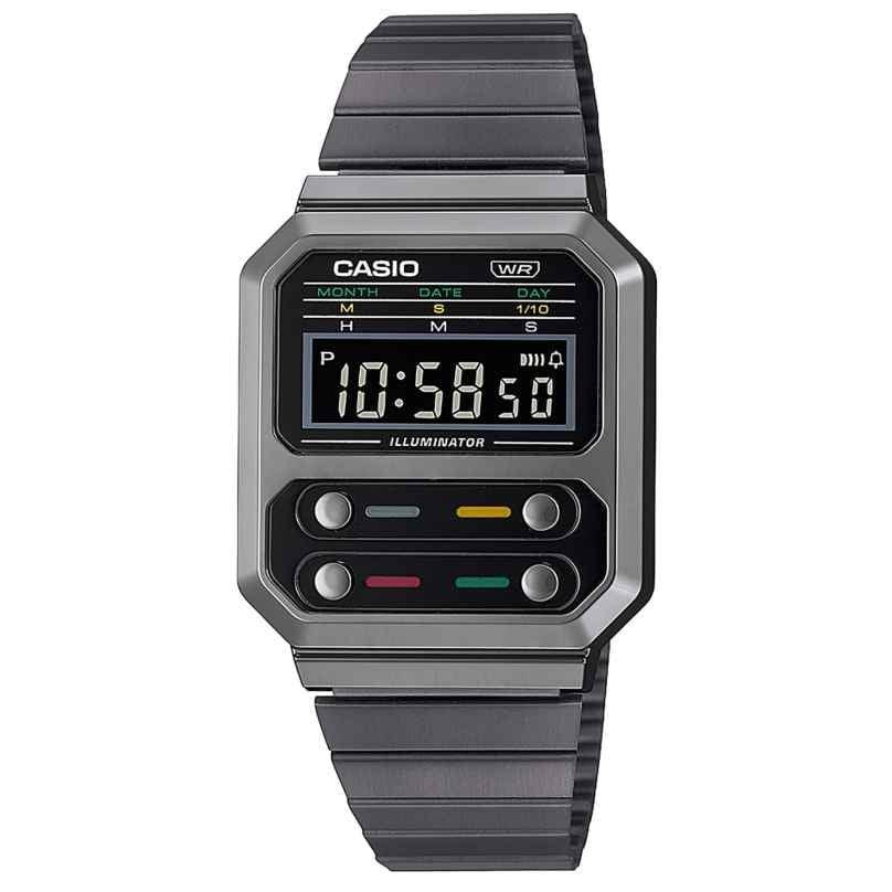 Casio A100WEGG-1AEF Vintage Edgy Armbanduhr Schwarz 4549526305955