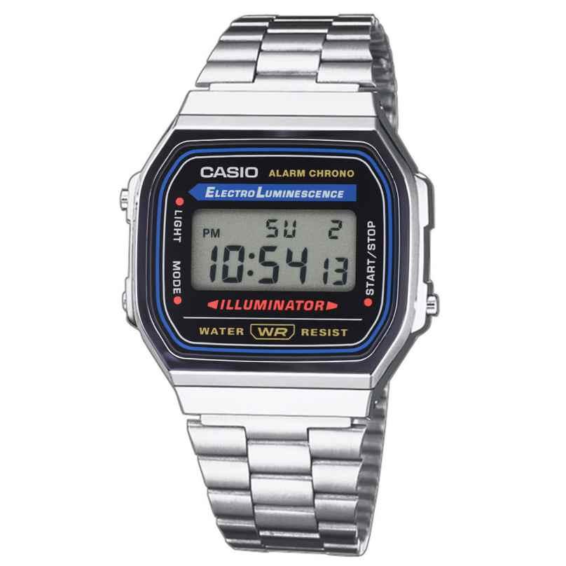 Casio A168WA-1YES Digitaluhr Vintage Silberfarben 4971850436713