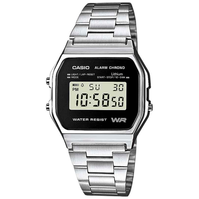 Casio A158WEA-1EF Alarm Chrono Digital Watch 4971850944386