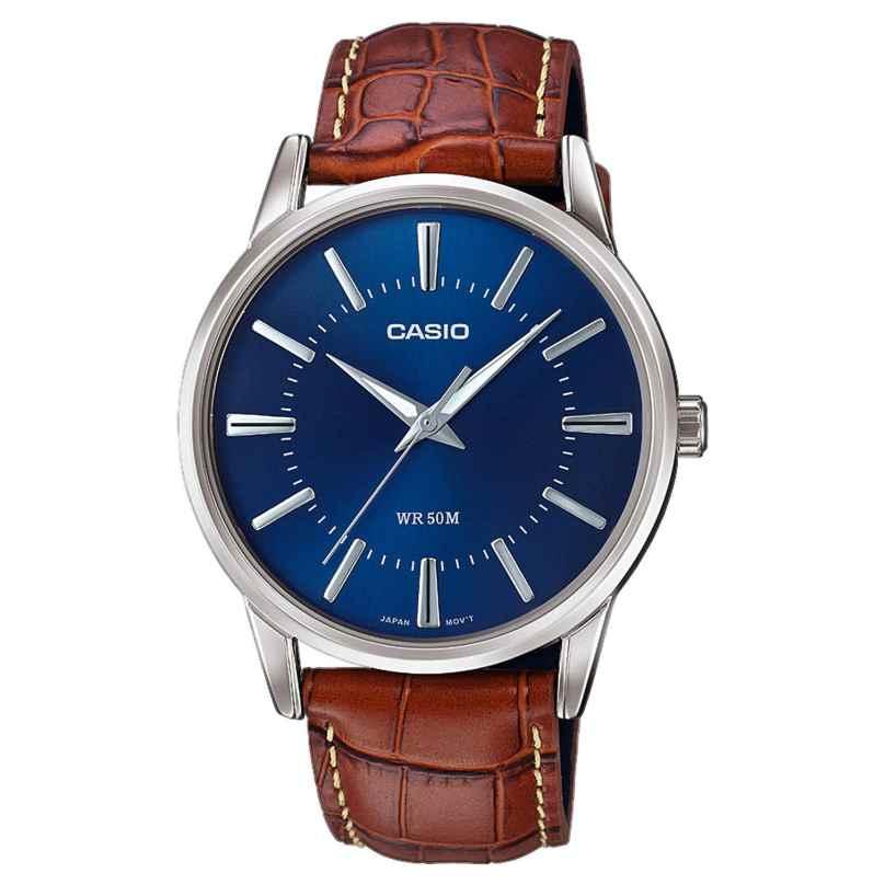 Casio MTP-1303PL-2AVEF Herren-Armbanduhr mit braunem Lederband 4549526207952
