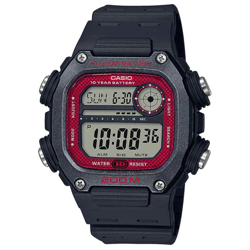Casio DW-291H-1BVEF Collection Herrenuhr Digital Schwarz/Rot 4549526251245